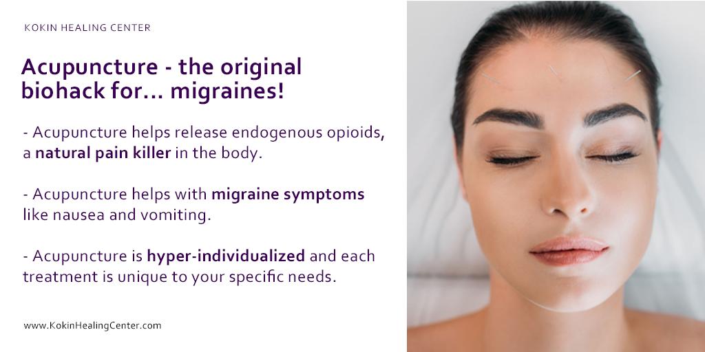Acupuncture- the original biohack for… migraines!